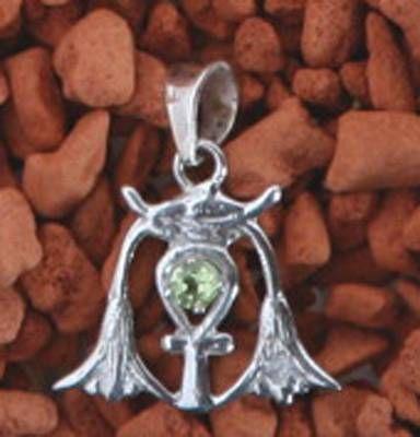 Cheia Intelepciunii din argint cu topaz