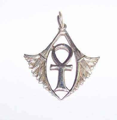 Crucea Egipteana cu aripi din argint
